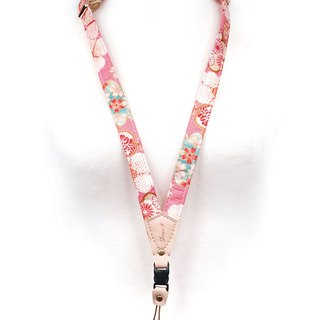 Phone straps hanging neck - Japanese and Sheng flowers