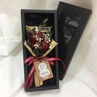 Christmas Happy Vintage Textured Dry Bouquet Gift Box / Christmas Gift Bouquet Birthday Gift