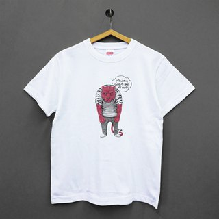 [Illustrator/Milk MILK DONG] No tiger Japan United Athle cotton soft neutral T-shirt