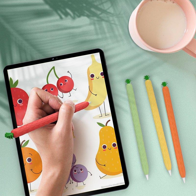 Apple Pencil 2代 矽膠保護套 - 水果鳳梨款
