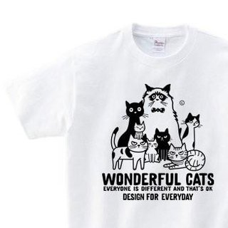 Wonderful Cats Neko series WM - WL • S - XL T - shirt 【Custom order】
