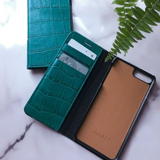 AOORTI :: Apple iPhone 8/7 Plus Handcrafted Genuine Leather Phone Case/Flip Leather Case