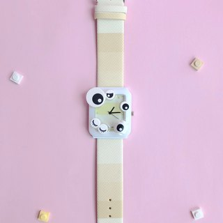 LEGO watch yellow luminous eyes cute girl Plaid