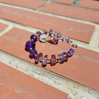 Girl Crystal World [Alice Labyrinth] - Amethyst Bracelet Natural Crystal Gems Handmade