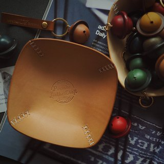 Jewelry key stationery change storage / storage leather plate into the wedding gift Italy original color vegetable tanned leather