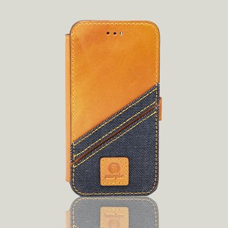 Bronx - iPhone 7 / iPhone 8 oil wax leather phone back cover - camel