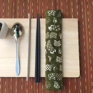 Adoubao-Chopsticks Set Pack - Green & Wind Cat