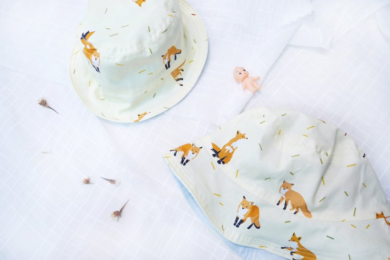 Lightweight parent-child double-sided fisherman hat | Lemon Fox
