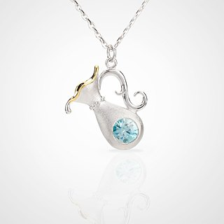 Handmade 925 sterling silver [Aquarius necklace aquarius] constellation series
