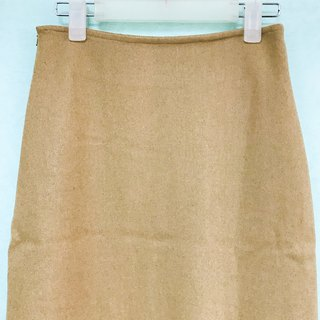 Skirt / Camel Straight Skirt