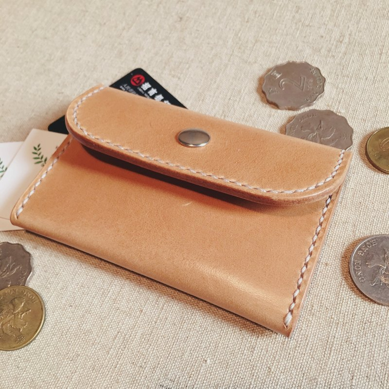 Double change / card / card package Italian vegetable tanned leather handmade leather design custom Pi Knight PXK produced