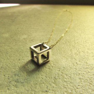 Cube necklace_Cubic Necklace 925 Sterling Silver Limited Designer Hand Made