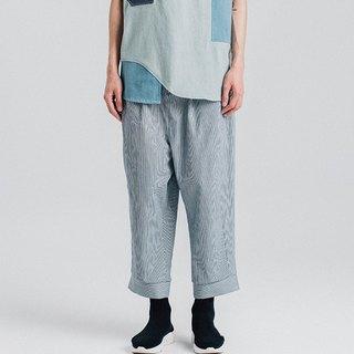 Alan Hu 2018S/S Wide Stripe Wide Pants