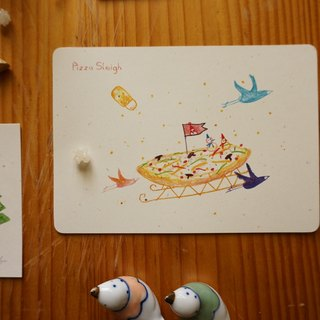 Xue delicate children :: :: Pizza sleigh Postcards / Cards