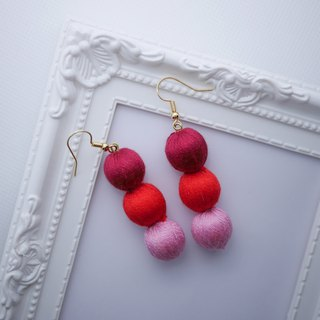 3 Colours Embroidery Beads Earrings