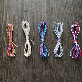 Gradient color fine hemp rope 3 meters gift packaging DIY material 7 color selection