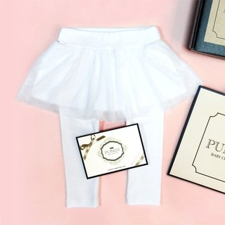 PUREST Barbie Princess / white / fake two-piece 澎 culottes / baby Mi Yue / birthday / gift preferred