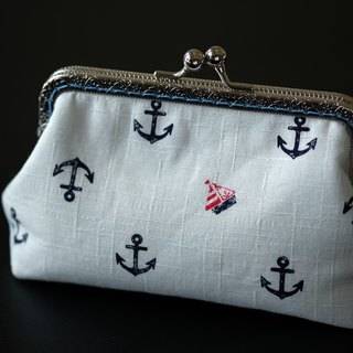 CaCa Crafts | Summer · Marine Wind Anchor export gold Cosmetic Bag