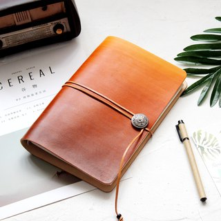 Reddish brown gradient a5 a6 a7 loose-leaf notebook handbook handmade leather notepad stationery