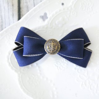 Sweet House Golden Blue Butterfly knot French clip handmade limited edition