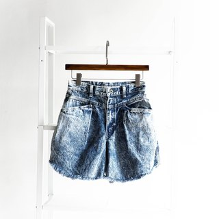 River water mountain - W28 beach water blue vacation love season season cotton tannin antique shorts ancient leather denim pants vintage