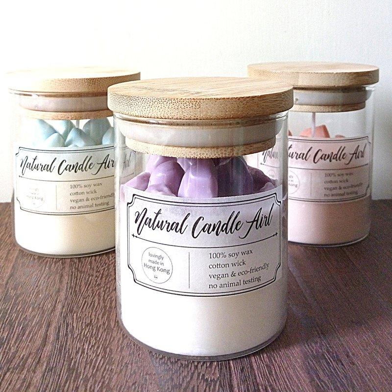 水晶原石 | 天然精油香氛大豆蠟燭 | 醒目薰衣草 | 創意生日禮物