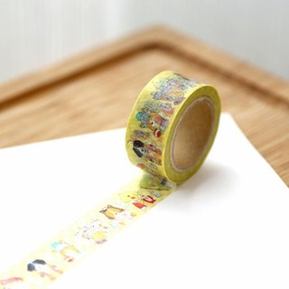 OURS Original Washi Masking Tape - Chess Dogs by Koopa