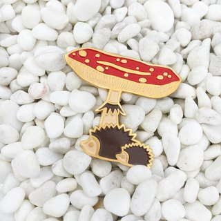 """NOWHERE"" project Namel pin - Mushroom"