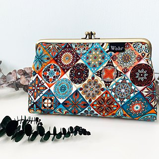 flowers all clasp frame bag/with chain/ cosmetic bag