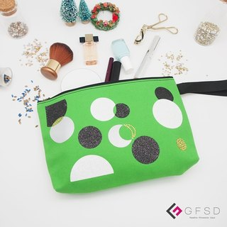 【GFSD】 Rhinestone boutique - simple series - Apple green 【rhythm】 handmade million with cosmetic bag