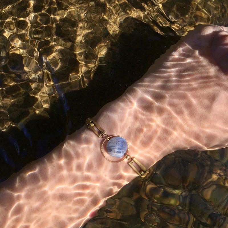 暮光Twilight 黃銅手鍊 光譜石 禮物