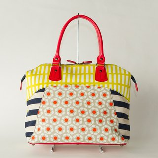 dots borders stripes boston bag Road Movie Classic Red Yellow