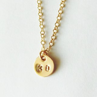 Mini number (number) 2 digit plate necklace