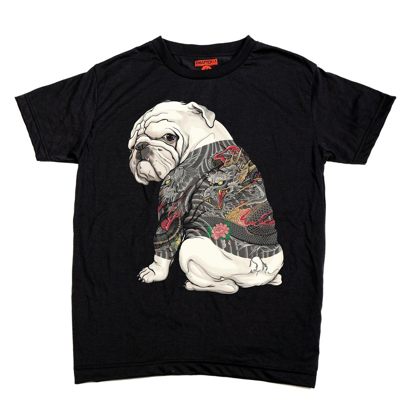 Bulldog Dragon Tattoo Chapter One T-shirt