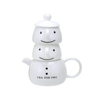 Japanese sunart on cup pot group - snowman
