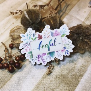 Handwritten scribbled colorful leaf stickers - leaful