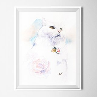 Custom Pet Draw A4 / Scandinavian Pencil Drawing Watercolors / Gifts Furnishings