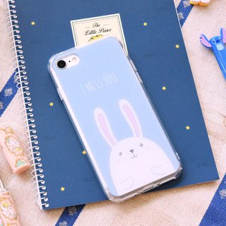 【RABBIT -BLUE】ONOR CRYSTALS PHONE CASE