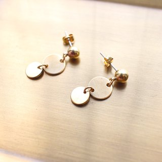 Little circle-Brass earrings