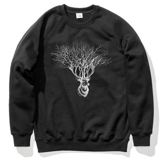 Deer Tree (spot) University T bristles black deer tree elk design Wenqing own brand animals