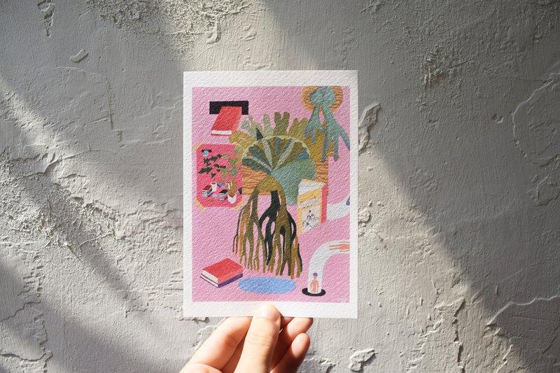 粉色鏡片系列明信片_自動還書機II