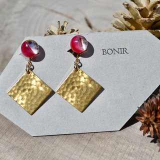Bo + sq  earrings