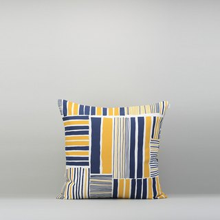 Pillow Case / Iron House / Yellow Blue / No Pillow