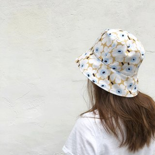 Flower of cell / Taiwanese Cotton print / double-sided use bucket hat