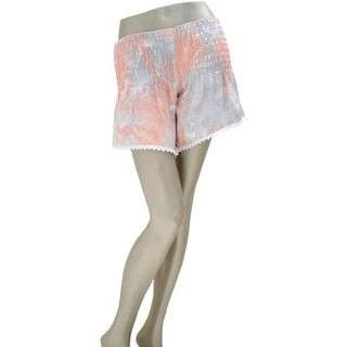 Summer of refreshing pants! Uneven dyed shorts <Peach gray>