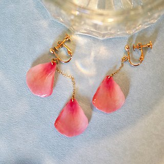 Coral Pink Earrings, Dainty 14k Gold Fill, CP01