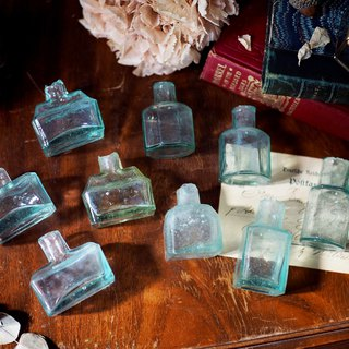 British antique mini glass ink bottle for sale