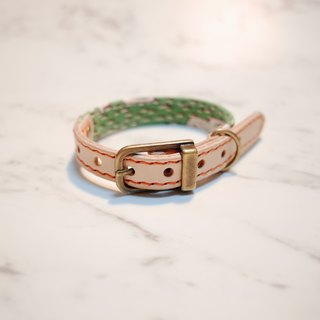Dog collars, S size, Green Sika deer_DCJ090404