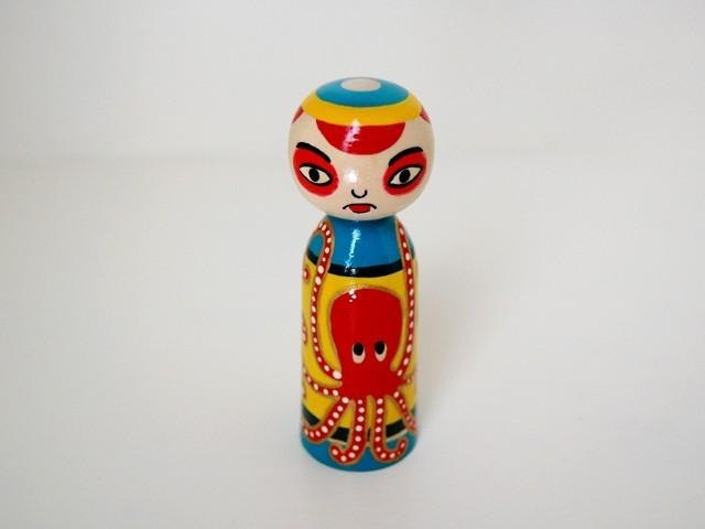 Octopus shaved * Kokeshi * red