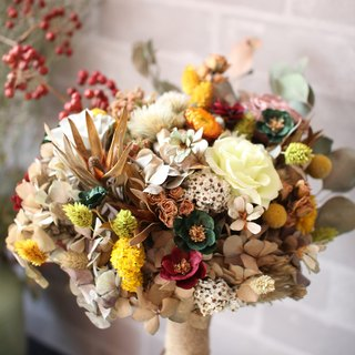 [Paragraph retro temperament dried bouquet] - eternal flower / dried flower / bouquet jewelry / wedding bouquets Bouquet / Flower Ceremony